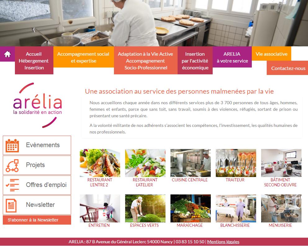 Page accueil du site internet